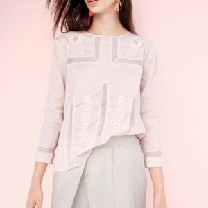 J Crew Embroidered Lace Top Pink 12
